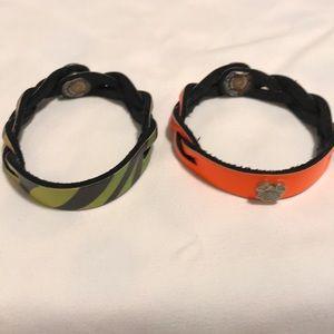 Leather bracelets from Disney World
